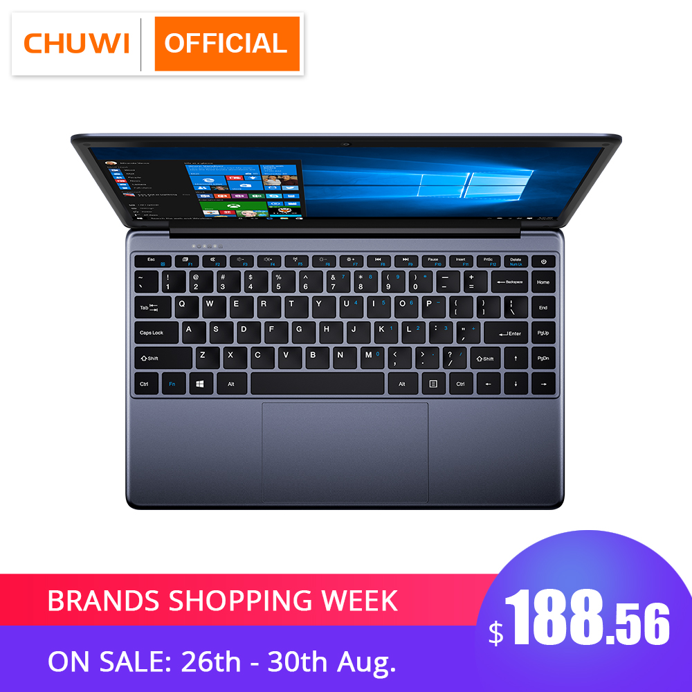 CHUWI 64GB-ROM Notebook Laptop Windows Intel Full-Layout-Keyboard Quad-Core 1920--1080