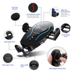 Image 3 - Caricabatterie Wireless veloce Qi da 10W con bloccaggio automatico per DOOGEE S96 Pro S90C S68 Pro S60 Lite , S70 / S70 Lite, S80 Lite S90 adattatore per Auto