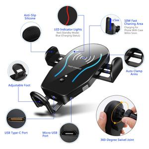 Image 3 - Otomatik sıkma 10W Qi hızlı kablosuz şarj aleti DOOGEE S96 Pro S90C S68 Pro S60 Lite, s70/S70 Lite, S80 Lite S90 araç adaptörü