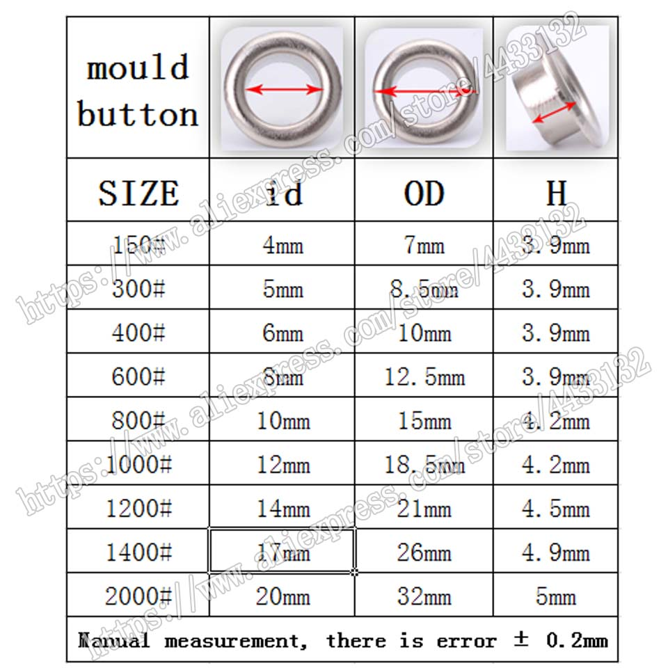 6mm NICE 4mm 1200 Buttons 9mm New Low Price 12 colors!