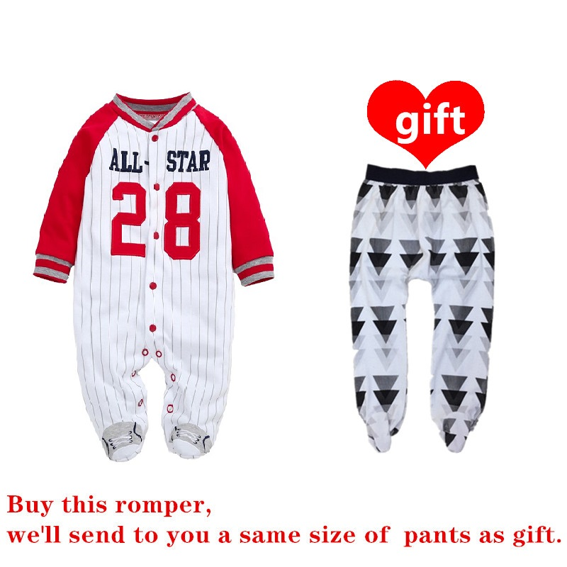 COSPOT Newborn Footies Long Sleeved Autumn Winter Baseball Jumpsuit Bebes Boy Clothes Infant Outfit Pajamas Baby Boy Clothes 21