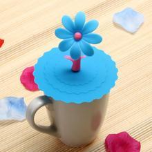 Подсолнух Пылезащитная многоразовая силиконовая крышка чашки DIY изоляционная крышка чашки креативные питьевые крышки чашки