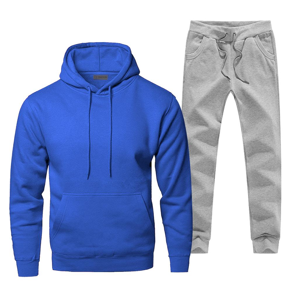 Men's Full Suit Tracksuit Fashion Brand Man Track Suit Casual Thermo Underwear Fleece Winter Hip Hop Streetwear