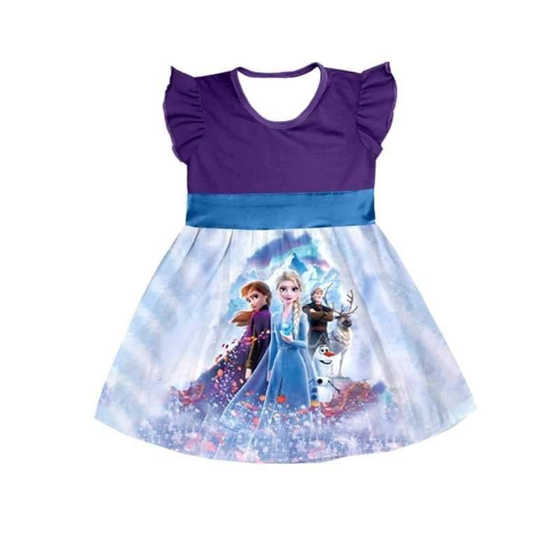 on selling girls new design purple party dress kids free ship pretty boutique clothing
