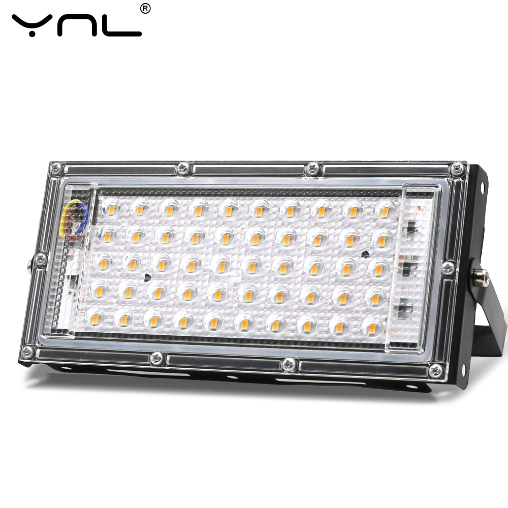 Combinable LED Flood Light 220V 50W Spotlight Outdoor Focus Projector Reflector Spot Lighting Streetlight Waterproof IP65