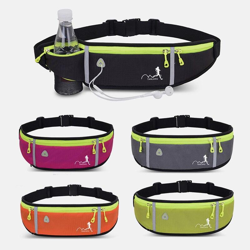 Sac de taille étanche poche de voyage ceinture support pour téléphone Mobile sac de taille femmes en cours dexécution hommes salle de sport Fitness rose poitrine sacs organisateur