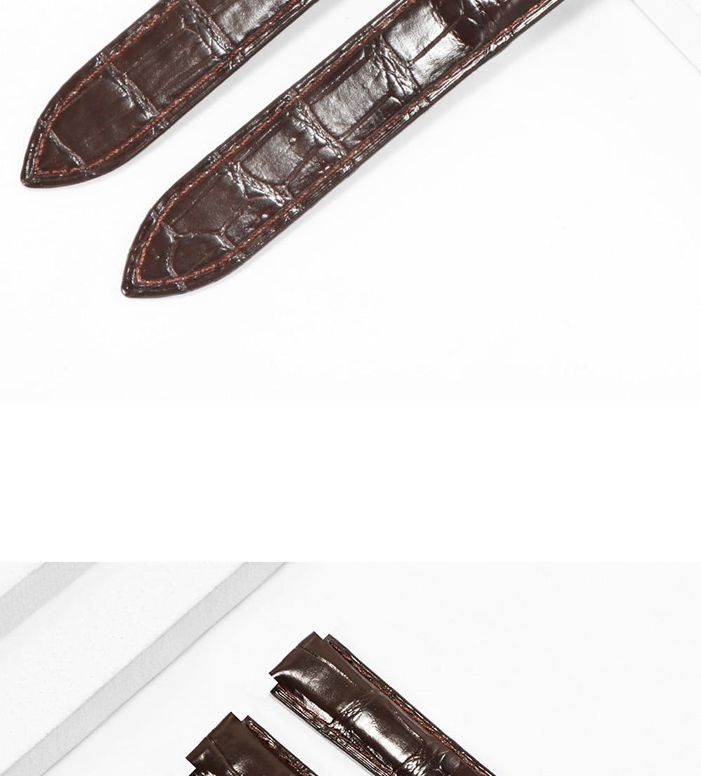 Pulseira de couro de crocodilo 16x9 18x11