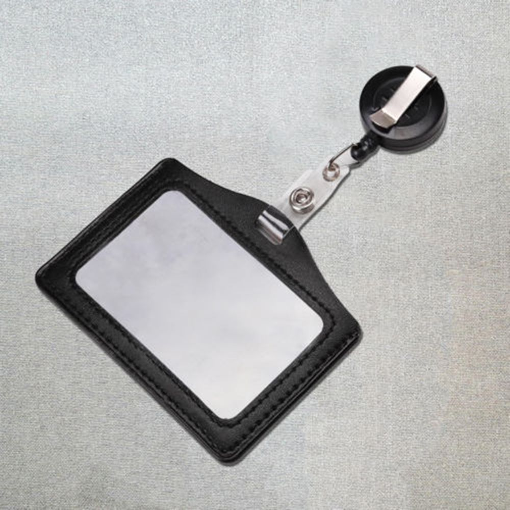 ID Card Holder Badge Reel Oyster Security Retractable Photo Identity Pass Badge Holder & Accessories