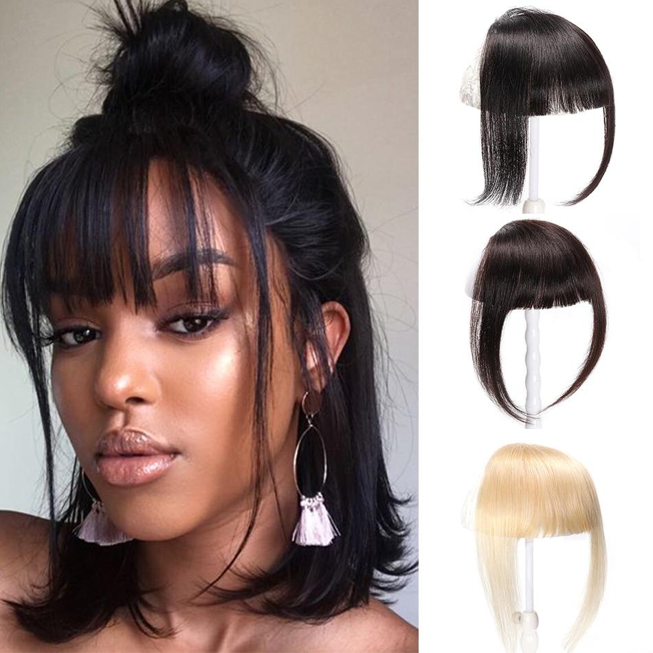 Unice cheveux brésiliens cheveux humains émoussé frange pince dans lextension de cheveux humains Remy pince-dans frange cheveux frange 613 soigné Bang