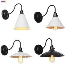Винтажная настенная лампа iwhd белая черная накаливания 4 Вт