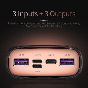 Внешний аккумулятор KUULAA на 30 000 мАч с портами USB Type-C и поддержкой быстрой зарядки