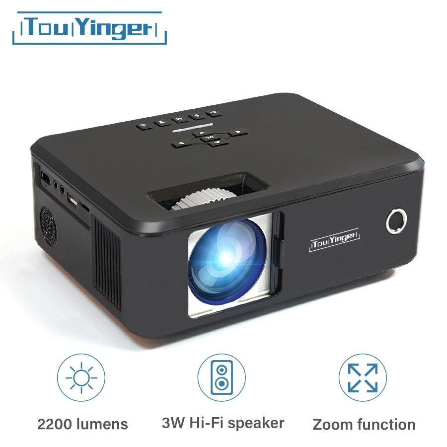 Touyinger X20 marque mini projecteur LED full hd 1080P vidéo projecteur portable cinéma maison LCD TV projecteur de film 3D intelligent