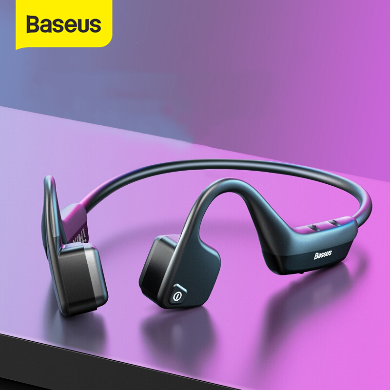 Baseus BC10 Bone Conduction Wireless Bluetooth Earphone Stereo Headset Sports Headphone Titanium Waterproof earphone For Running|Bluetooth Earphones & Headphones|   - AliExpress