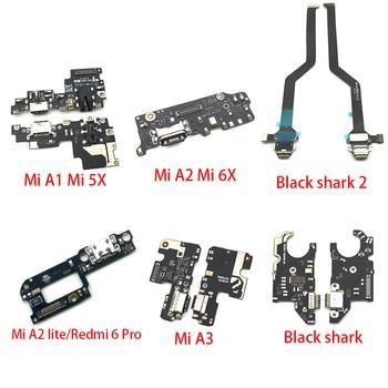 10Pcs USB Charging Connector Plug Port Dock Flex Cable For Xiaomi Mi 9T A3 A2 A1 9 Se 8 Lite Max 3 Black Shark 2 POCOPHONE F1