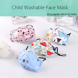 Children's Mask With Valve Pure Cotton Anti-fog Haze Child Filter Mask Filter Mask n95 Breathing Valve Cartoon Activated Carbon 1
