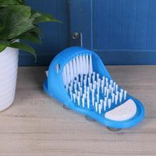 Пластиковая Ванна для удаления омертвевшей кожи массажные тапочки скребок для ног с щеткой для ног Товары для ванной комнаты Уход за ногами синий