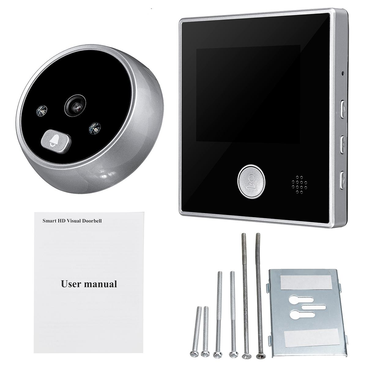 3Inch LCD HD Digital Door Camera Eye Doorbell SY-2 Outdoor Electric Door Eye Bell 120Degree Li Battery Peephole Viewer Video