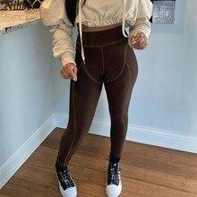 Nibber stylowe paski biegaczy damskie legginsy wysokiej talii Undefined Fitness elastyczne spodnie jesień patchworkowy w stylu Casual Streetwear