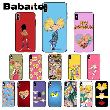 Babaite Hey Arnold High Quality Phone Case for iPhone 11 pro XS MAX 8 7 6 6S Plus X 5 5S SE XR case image
