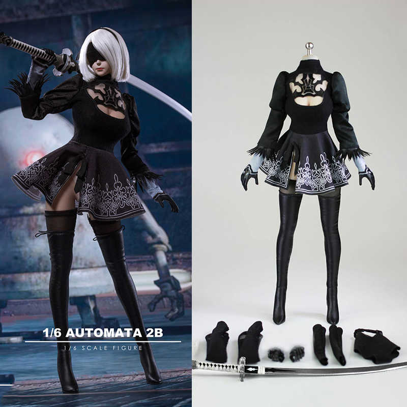 """*IN STOCK* 1//6 Nier Automata YoRHa No.2 Type A Head for PALE Phicen 12/"""" figure"""