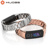 For Honor Band 5 Strap Metal Wrist Bracelet for Honor Band 4 Watch Leather Silicone Strap for Huawei Honor Band 4 5 Wristbands