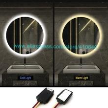 1 шт., может регулировать более холодный или теплый светильник, цветной светодиодный светильник для ванной комнаты, сенсорный диммер, сенсорный переключатель для шкафа или ванной комнаты