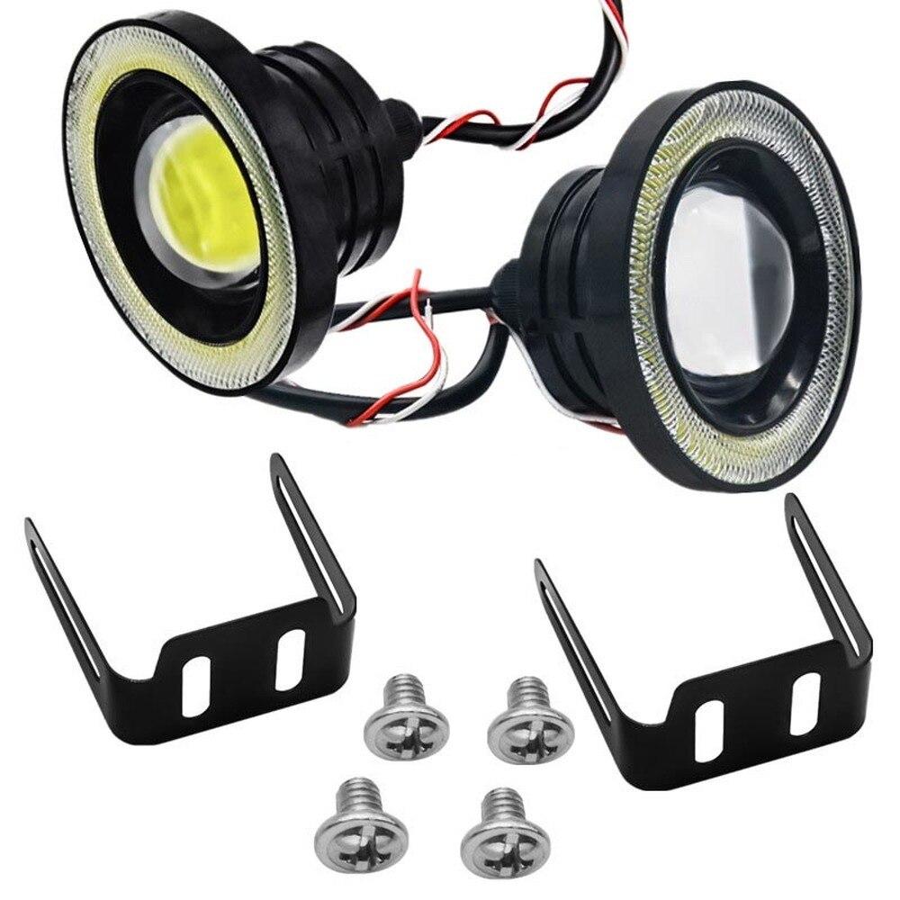COB Engel Auge 64mm 2,5 Zoll Wasserdicht Projektor Auto Led 30W Nebel Lampe Fisheye Licht Tagfahrlicht