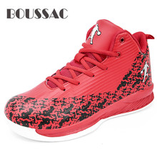 BOUSSAC Basket Homme Men Basketball Shoes Comfort Air Cushion Athletic Shoes Breathable Slip on Hard-Wearing Sneakers boussac basketball shoes for men 2018 new high top sport comfort air cushion sneakers trainers basket homme zapatillas red