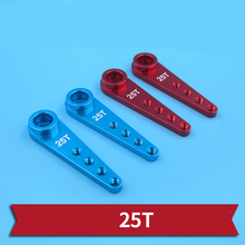 Aluminum Alloy 25T Servo Arm Steering Half Servo Arm Horn Metal Server Arms with Clevis Chuck for RC Car/Boats Accessories