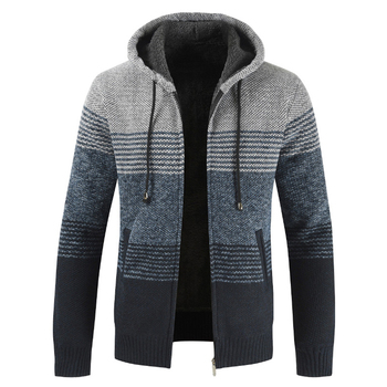 NEGIZBER 2019 Winter Mens Coats and Jackets Casual Patchwork Hooded Zipper Men Fashion Thick Wool Jacket Streetwear - discount item  40% OFF Coats & Jackets