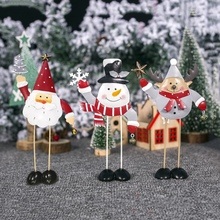 Novelty Desktop Christmas Decoration Elk Santa Claus Shape Home With Bell Ornaments