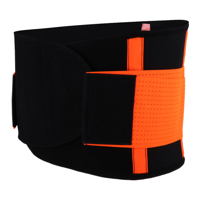Breathable Waist Trimmer Belt Body Sweat Wrap Brace for Stomach and Back Lumbar Support 2