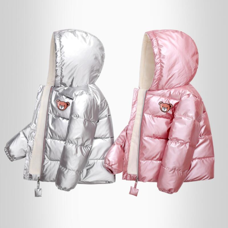 New Boys Girls Clothes Kids Casual Hooded Down Coats Autumn Winter Warm Fashion Outwear Children Solid Jacket For 2-6 Years 1