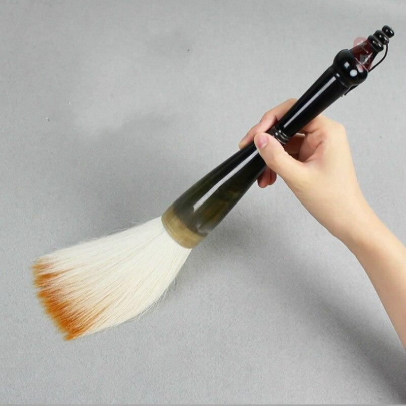 Caligrafia Oversized Calligraphy Brush Tinta China Chinese Ox Horn Bear Hair Brush Pen for Chinese Painting Couplet Writing