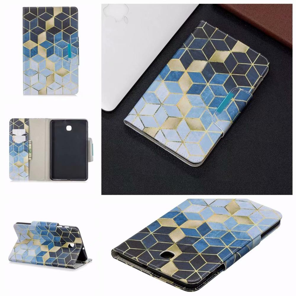 PU Leather Capa Funda Cover Case For Samsung Galaxy Tab A 8.0 2018 T387 SM-T387V SM-T387P Coque Smart Case Shell