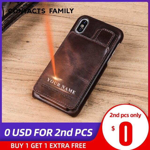 עבור iPhone X נרתיק עור מגנטי Flip ארנק מקרה עבור iPhone X אמיתי עור כיסוי Coque Fundas כרטיס חריץ הגנה כיסוי