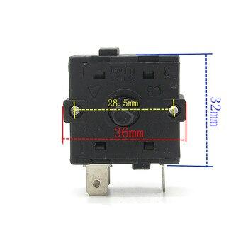 1 pieza interruptor giratorio de 3 pines 16A 250V AC reemplazo para radiador calentador eléctrico piezas de reparación