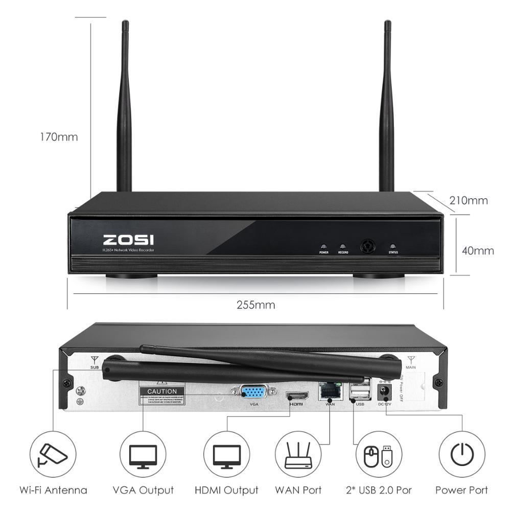 ZOSI 8CH 1080P HD WiFi NVR 2CH / 4CH 2.0MP IR kültéri - Biztonság és védelem - Fénykép 3