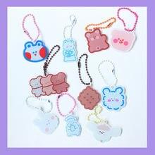 Брелок для ключей с милым мультяшным медведем декоративная подвеска