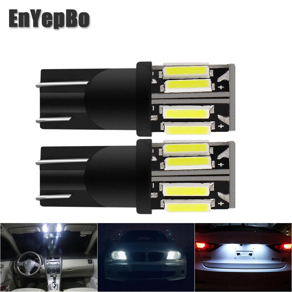 100X White T10 194,168,2825 10 SMD 7020 LED White Car Lights Tag Lamp Read Bulb
