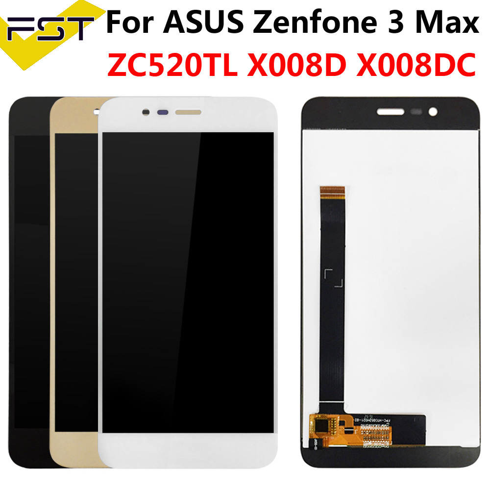 5.2''For <font><b>ASUS</b></font> <font><b>Zenfone</b></font> <font><b>3</b></font> <font><b>MAX</b></font> <font><b>ZC520TL</b></font> X008D X008DC X008DA X00KD LCD <font><b>Display</b></font> With Touch Screen Digitizer Assembly Spare Parts+Tools image