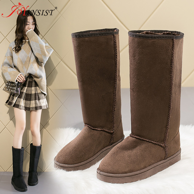 Foreign Trade Europe  America Classic Snow Boot Women Gaotong Snow Boots Female Russia 33 Centimeters Height Boots 41 Yards Code
