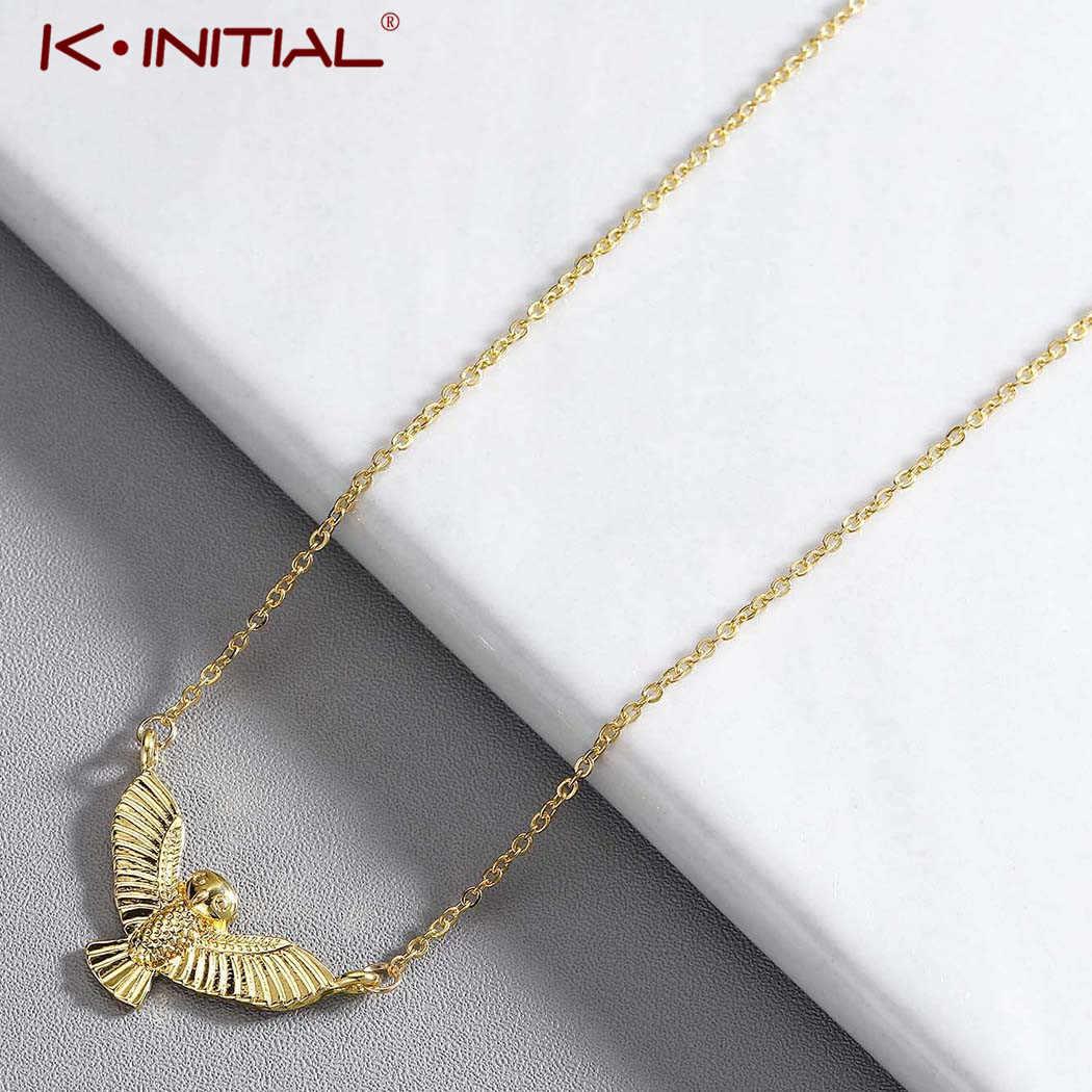 Collares con colgantes de búho dorado creativo Kinitial joyería con gargantilla diaria para mujer
