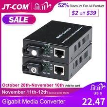 20 40KM Gigabit Media Converter Fiber Optic to Rj45 Single Mode Single Fibra Optica Ethernet Switch Transceiver 10/100/1000M SM