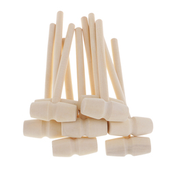 10 Pieces Mini Natural Wooden Hammer Mallet for Dollhouse Playing House Supplies 140x43x19mm