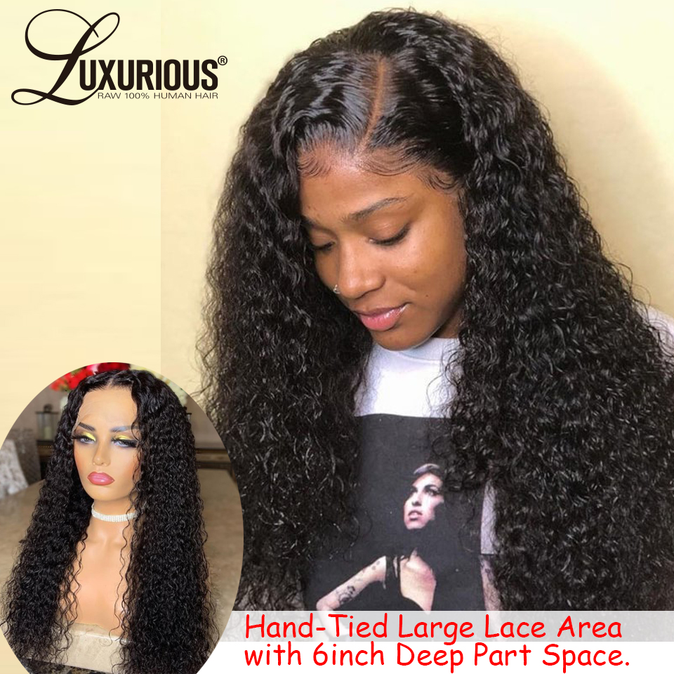 360 Lace Frontal Wig Pre Plucked With Baby Hair Curly Lace Front Human Hair Wigs For Black Women Brazilian Remy Natural Hair Wig