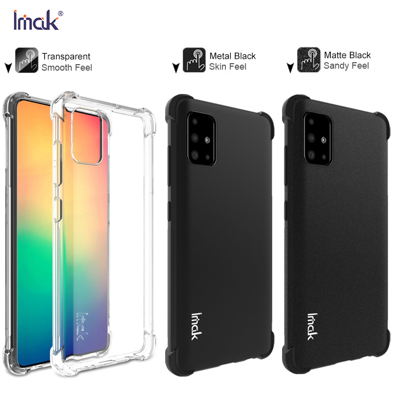 For Samsung Galaxy A51 Case Fitted Case For Samsung Galaxy A51 Anti-Dropping Airbag Protection Cover Soft TPU Cover