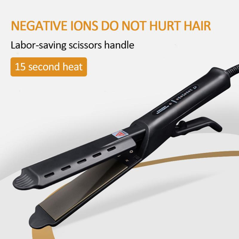 Straightening Irons Curly Widening 2 In 1 Dry Wet Four-Speed Thermostat Straight Hair Generator Hair Styling Tools TSLM1