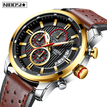NIBOSI Watch Top Brand Luxury Chronograph Quartz Watch Men Sports Watches Military Army Male Wrist Watch Clock Relogio Masculino все цены