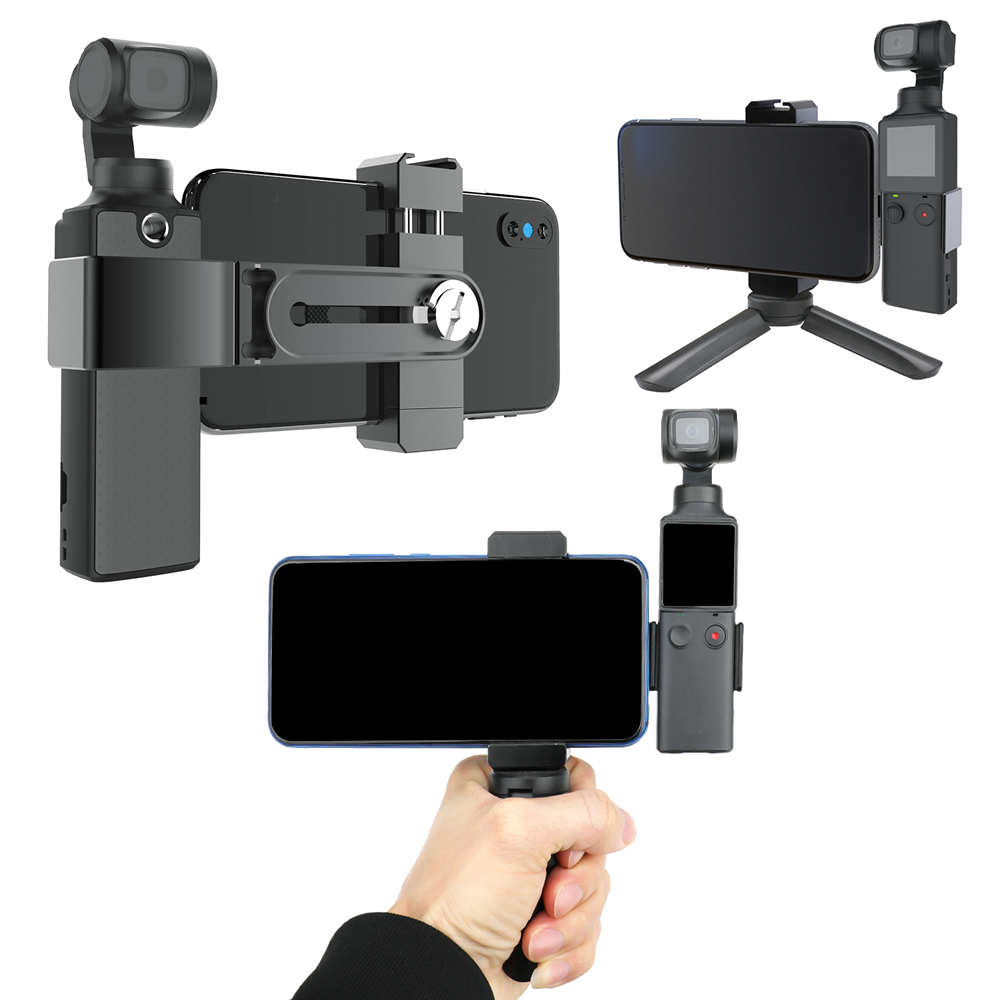 Phone Holder Clamp For Fimi Palm Accessories Built-in 1/4 Screw Hole With Tripod Extension Rod Flash Holder Mount Bracket